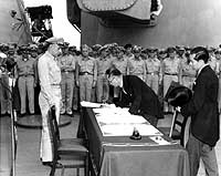 Japanese Surrender to End World War II