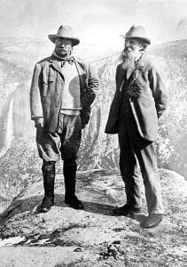 Roosevelt and Muir at Yosemite
