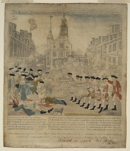 Boston Massacre by Paul Revere