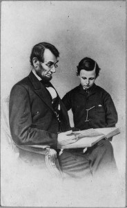 Abraham Lincoln and his son Tad, Father's Day