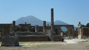 Pompeii with Vesvius in background photo courtesy of Kim Traynor