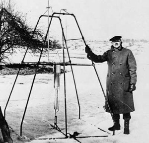 Goddard and an Early Rocket