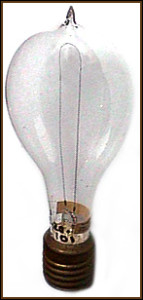 An Early Edison Light Bulb
