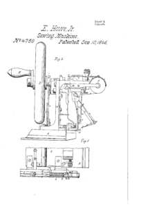 Illustration of Sewing Machine from Patent