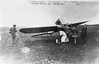 Louis Bleriot before take-off