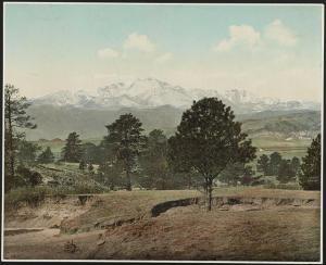 Pikes Peak - 1899 print