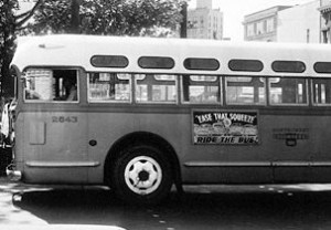 Empty Bus during Montgomery Bus Boycott