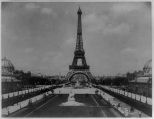 1889 Photo of Eiffel Tower