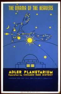 Adler Planetarium 1939 Poster