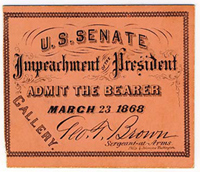 Ticket to Johnson's Impeachment