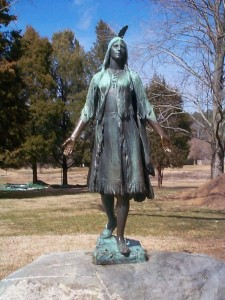 Statue of Pocahontas at Jamestown