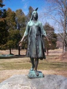 Statue of Pocahontas at Jamestown
