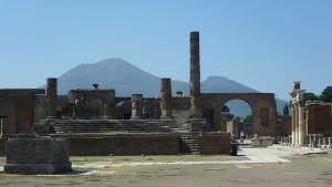 Pompeii with Vesvius in background photo courtesy of Kim Traynor