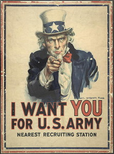 Not the First Uncle Sam but perhaps the most famous