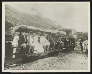 Theodore Roosevelt and Others Inspecting Panama Canal