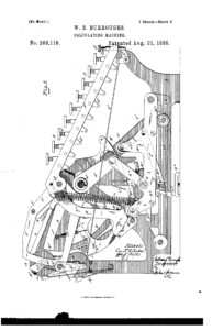 Adding Machine Patent Illustration